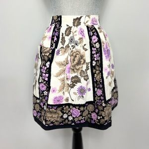 Vintage black rose half apron.